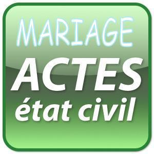 Demande acte de Mariage